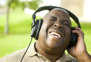 Man-headphones