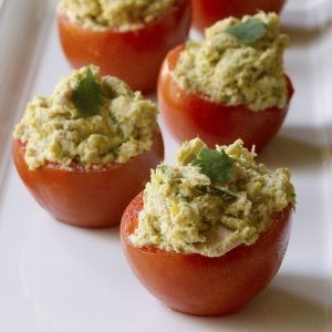 Tahini and Tuna-Stuffed Tomatoes