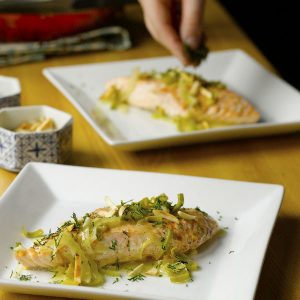 Fish Poached in Fennel-Orange Broth